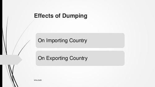 Ảnh hưởng của bán phá giá đối với nước xuất khẩu