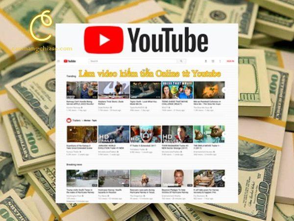 Làm video kiếm tiền online từ Youtube