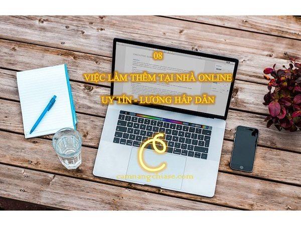 08 Việc làm thêm tại nhà online uy tín – lương hấp dẫn 2020