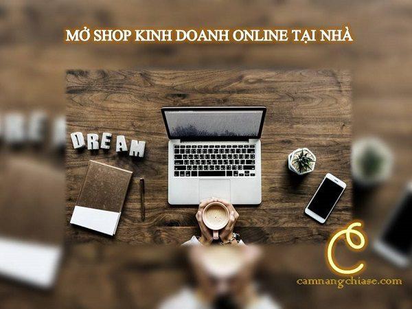 Mở shop kinh doanh online tại nhà